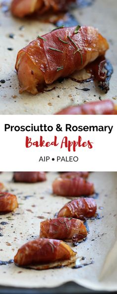 Prosciutto & Rosemary Baked Apples (AIP, Paleo)
