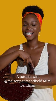 Natural Hair Updo, Natural Hair Care, African Head Wraps, Dark Skin Makeup, Black Hair Care, West Africa, Black Women Hairstyles, Single Piece, Bandana