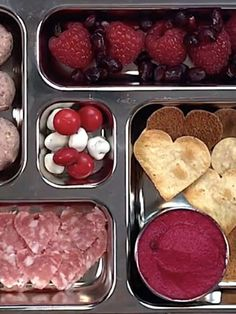 What are you sending to school with your little Valentines? I'm making my kids this fun heart-filled lunch! Red Beet Hummus with Heart-Shaped Chips Use a… Fruit Recipes, Lunch Recipes, Baby Food Recipes, Breakfast Recipes, Easy Recipes, Toddler Recipes, Healthy Recipes, Family Recipes, Vegetable Recipes