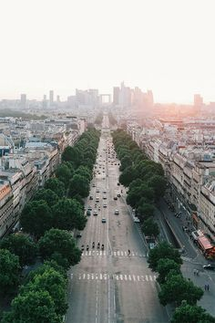 View form the Arc de Triomphe, Paris by lomokev // 35 Images from Around the World // This is Glamorous