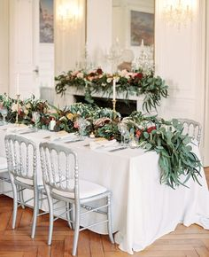 Intimate French Countryside wedding table decor: http://www.stylemepretty.com/2017/01/19/the-french-countryside-is-always-a-good-idea/ Photography: 2 Brides - http://2brides.se/