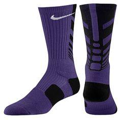 Purple NIKE socks for my BABY!