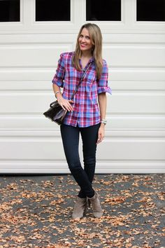 Personal Stylist Tips How to Style Ankle Boots: Summer-to-Fall Ankle boots have been around for a couple of seasons now, and they seem to be sticking around How To Wear Ankle Boots, Professional Wardrobe, Plaid Shirts, Paige Jeans, Personal Stylist, Fall Winter Outfits, Autumn Summer, Ankle Booties, Style Me