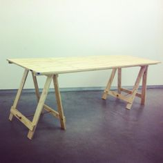 plywood tresel table