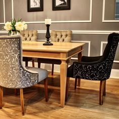"""""""Love it when we do collaborations our Veronica dining chairs wth @graintimberfurniture dining table. Veronica Chair Designed & custom made by…"""""""