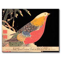 Golden Pheasant in the Snow Itô Jakuchû bird art Postcards