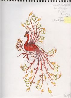 pinterest phoenix tattoos | ... peacock phoenix tattoos tagged as phoenix tattoo by lovelikeangels jpg