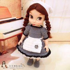 女仆套装 ##沙龙娃衣 #disneyanimator #disneyanimatorcollection #crochet #crochetaddict #crochetlove #crochetmotif #crochetersofinstagram #arttoy #doll #dollstagram #instadoll #dollphotography #dollclothes #diy #yarn #yarnaddict #yarnlover #handmade #handcraft #haken #häkeln #instacrochet #ganchillo #ganxet #вязание #코바늘인형 #かぎ針編み #амигуруми #钩针