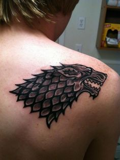 Stark 4 Life! Game of Thrones Direwolf tattoo