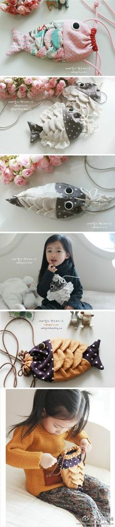 Fish purse for kids