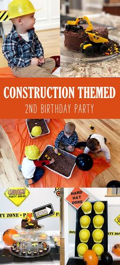 Have a rough and tumble toddler in love with trucks? A construction birthday party is the perfect theme for the 2nd birthday boy. Checkout this REAL party done by a REAL mom for simple decorations, games, and construction cake that look GREAT! See it all at HalfpintPartyDesign.com #constructionparty #boyparty #boybirthday #toddlerparty