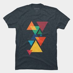 About Abstract Geometric Tshirt REW.This T-shirt is Made To Order, we print one by one so we can control the quality. Shirt Print Design, Tee Shirt Designs, Tee Design, Cool Shirts, Tee Shirts, T Shirt Painting, Looks Cool, Printed Shirts, Shirt Style
