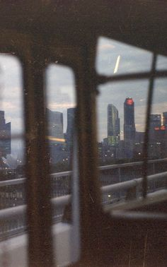 Although a train - from a car a mix of the city in the background is relevant?