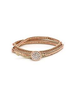 Ravishing Wrap Bracelet - Rose Gold  $14.50