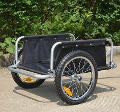 Aosom Traveler Flatbed Bicycle Cargo / Luggage Trailer - Black