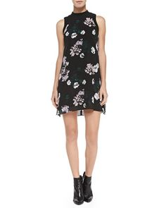Drie Floral-Print Silk Dress by A.L.C. at Neiman Marcus.