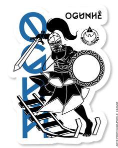 Ogun/Ogum, Lord of iron, Orisha of war and technology (by MinhaCrença, Brazil) Orishas Yoruba, African Mythology, Saint George And The Dragon, Yoruba Religion, African Paintings, Holy Mary, Sacred Art, Photo Illustration, Pagan