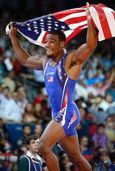 Jordan Burroughs lived up to Twitter handle, @alliseeisgold, and won Olympic gold  He defeated Iran's Sadegh Saeed Goudarzi, who he also beat at 2011 worlds  Burroughs wants to set a record for most major championships won by a wrestler    Read more: http://sportsillustrated.cnn.com/2012/olympics/2012/writers/michael_farber/08/10/Jordan-Burroughs-wins-olympic-gold/index.html#ixzz254N2bvRh