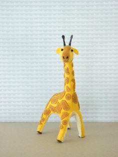 Gentle Giraffe Hand-sewn Stuffed Animal  by MelissaBeePatterns