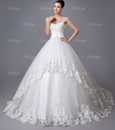 vintage wedding dress lace wedding dress cathedral by fitdesign