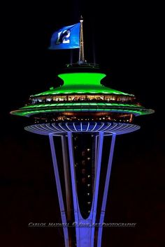 12 Flag Over The Space Needle With Centurylink Field In