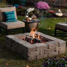 Liven up your landscape with a custom fire pit. Click for our tutorial on building one using retaining wall blocks.