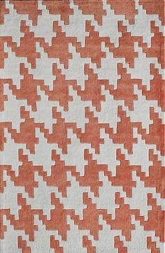 Hand-Tufted Rust Area Rug