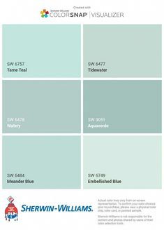Male bathroom: 60 decorating ideas with photos and designs - Home Fashion Trend Coastal Paint Colors, Bathroom Paint Colors, Interior Paint Colors, Paint Colors For Home, Wall Colors, House Colors, Aqua Paint Colors, Coastal Color Palettes, Best Bathroom Colors