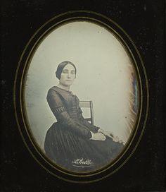 Portrait of a Woman, 1844, Auguste Belloc, daguerreotype. Courtesy of the Graham Nash Collection