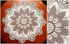 Crochet Tablecloth: see the free chart and leave your kitchen table well decorated