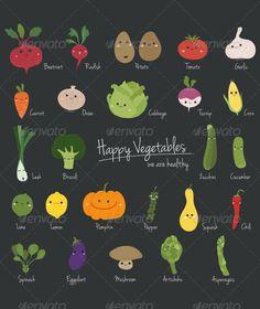 Vegetables Set  #GraphicRiver