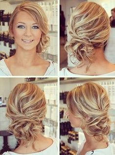 Wonderful Free of Charge casual Bridesmaid Hair Style Bridesmaid hair styles is often difficult seeing that all your women could have unique shaped confr Bridesmaid Hair Medium Length, Bridesmaid Hair Side, Updos For Medium Length Hair, Wedding Hair Side, Wedding Hair And Makeup, Casual Bridesmaid, Bridesmaids Hairstyles, Casual Wedding Hairstyles, Thin Hair Updo
