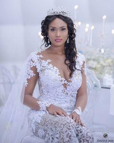 Black Brides Hairstyles, African Wedding Hairstyles, Wedding Hairstyles With Crown, Bride Hairstyles, Bridal Hat, Bridal Crown, Bridal Tiara, Bridal Dresses, Wedding Gowns