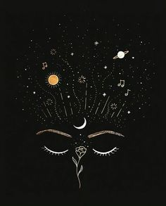 chaos and creativity. always buzzing wondering planning dreaming. a moment of space between the noise is a breath of relief. Cute Wallpapers, Wallpaper Backgrounds, Iphone Wallpaper, Black Tattoo Art, Bild Tattoos, Galaxy Art, Moon Art, Tag Art, Aesthetic Art