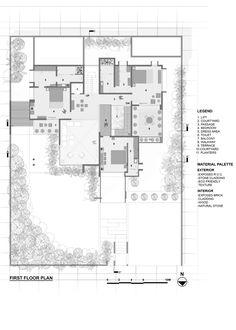 Grid Architects, Large Floor Plans, House Design Pictures, Office Plan, Home Design Floor Plans, Concrete Building, Bungalow House Design, Floor Layout, Ground Floor Plan