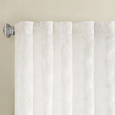 AmazonSmile - Madison Park Gemma Sheer Embroidered Window Curtain White 63 Panel -