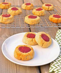 Paleo Cookies Pure and Simple Nourishment : Paleo Raspberry Thumb Print Cookies (Paleo, SCD, GAPS, Grain Free, Gluten free)