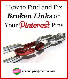 Pins with broken links are so frustrating! Here is how to find them on your account the fast and easy way, so you can fix them!