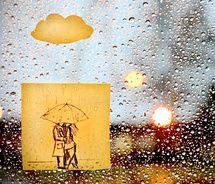 Rainy love through post-its