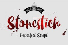 Stonestick Imperfect Script : I really love this font <3