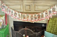 How to create your own Vintage Merry Christmas Banner. Using vintage inspired images, old book pages, ribbons, glitter, fabric, and vintage buttons.