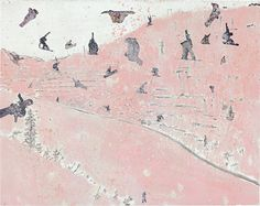Peter Doig (British, b. 1959), Untitled, 1997. Paint and collage on paper, 57.5 x 72.5 cm.