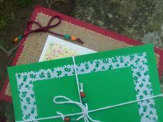 Tarjetas para Eventos Sociales, Rústica y Verde.
