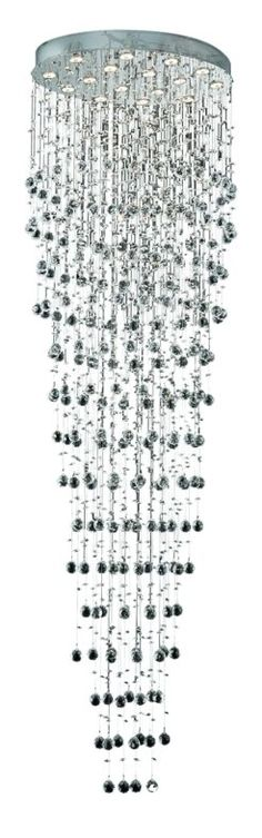 View the Elegant Lighting 2022G32C Galaxy 16-Light, Single-Tier Crystal Chandelier, Finished in Chrome with Clear Crystals at LightingDirect.com.