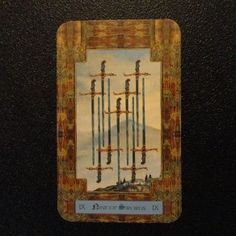 072812: Nine of Swords - Deception and even possible violence are warned by this card