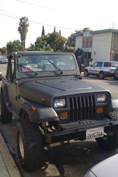 1987 Jeep Wrangler YJ- i like the black Green Jeep, Pink Jeep, Black Jeep, 1987 Jeep Wrangler, Jeep Tj, Jeep Truck, Used Jeep, Badass Jeep, Jeep Cherokee