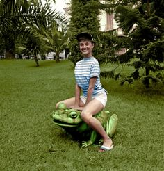 Audrey Hepburn - France - 1958  Coloured by History in Colour
