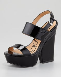 Holly Patent Leather Wedge Sandal by Pour la Victoire at Neiman Marcus. 152.00