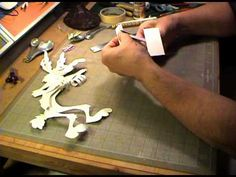 """A behind the scenes demonstration of how Mike Peraza produces original editions of paper sculptures based on the Warner Brothers characters """"Wile E. 3d Paper Art, 3d Paper Crafts, Paper Artist, Paper Cutting, Cut Paper, Dandelion Painting, Paper Video, Art Videos For Kids, Art Techniques"""
