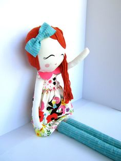 Beautiful handmade cloth doll from Mend by Ruby Grace